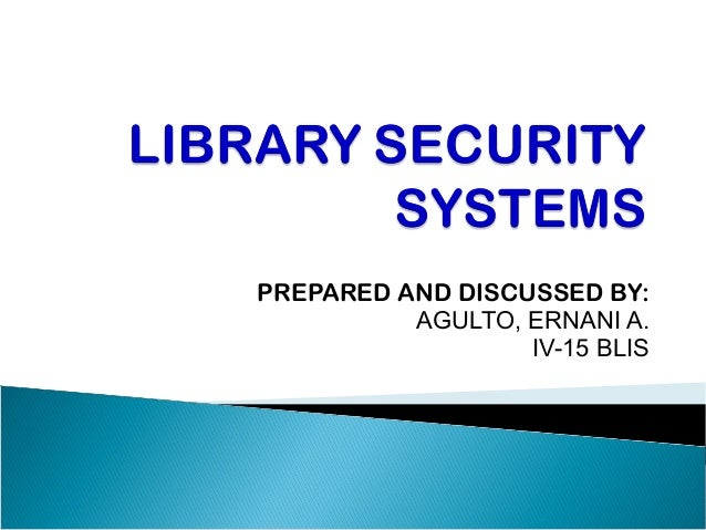 PREPARED AND DISCUSSED BY:          AGULTO, ERNANI A.                  IV-15 BLIS