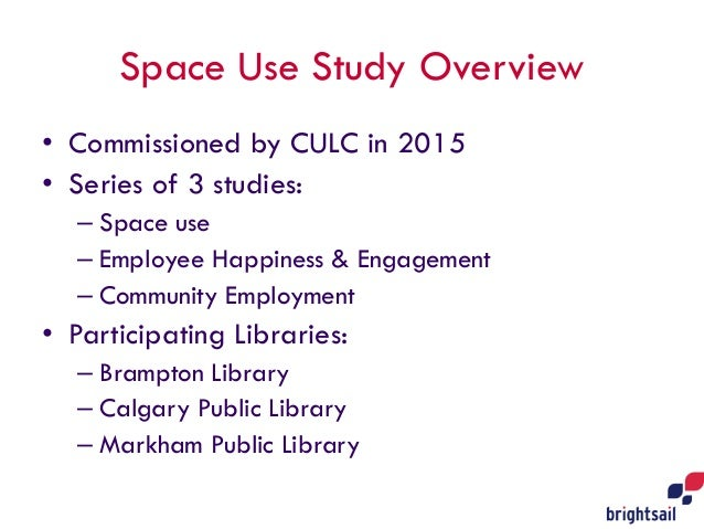 Library Space Use Study: What we Learned  Slide 2