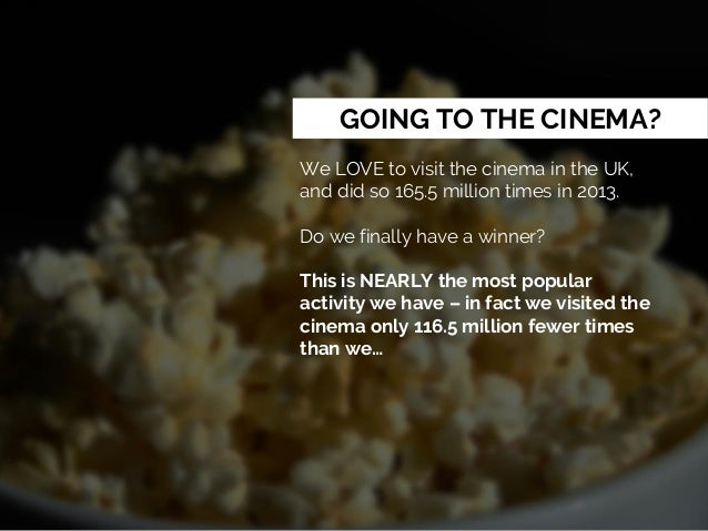 GOING TO THE CINEMA? We LOVE to visit the cinema in the UK, and did so 165.5 million times in 2013. Do we finally have a w...