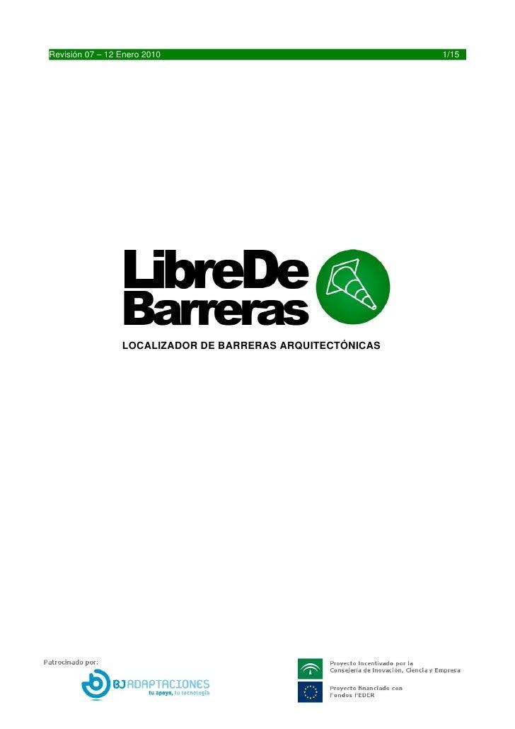 Revisión07–12Enero2010                                1/15                      LOCALIZADORDEBARRERASARQUITECTÓNIC...
