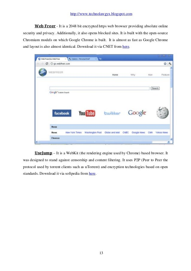 web freer last version download