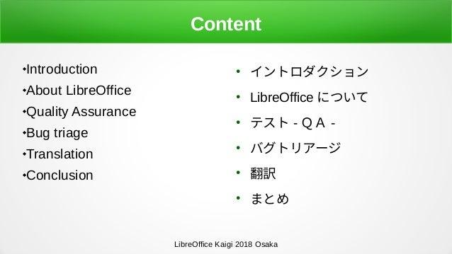 LibreOffice Development: QA and Translation Slide 2