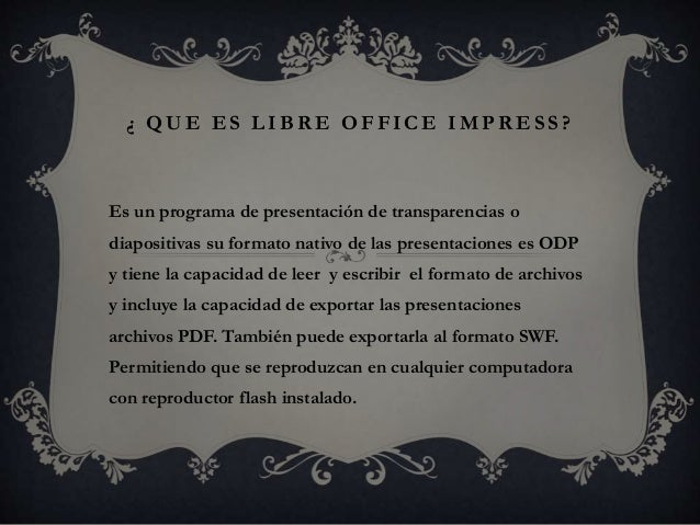 libre office impress