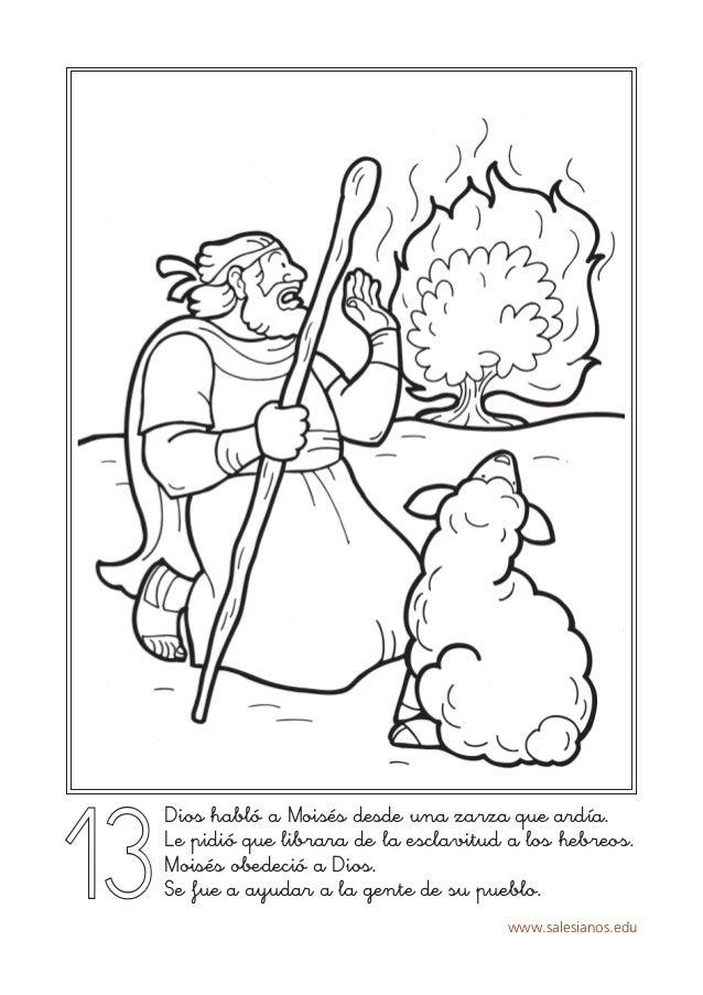 www.salesianos.edu 13 Dios habló a Moisés desde una zarza que ardía. Le pidió que librara de la esclavitud a los hebreos. ...