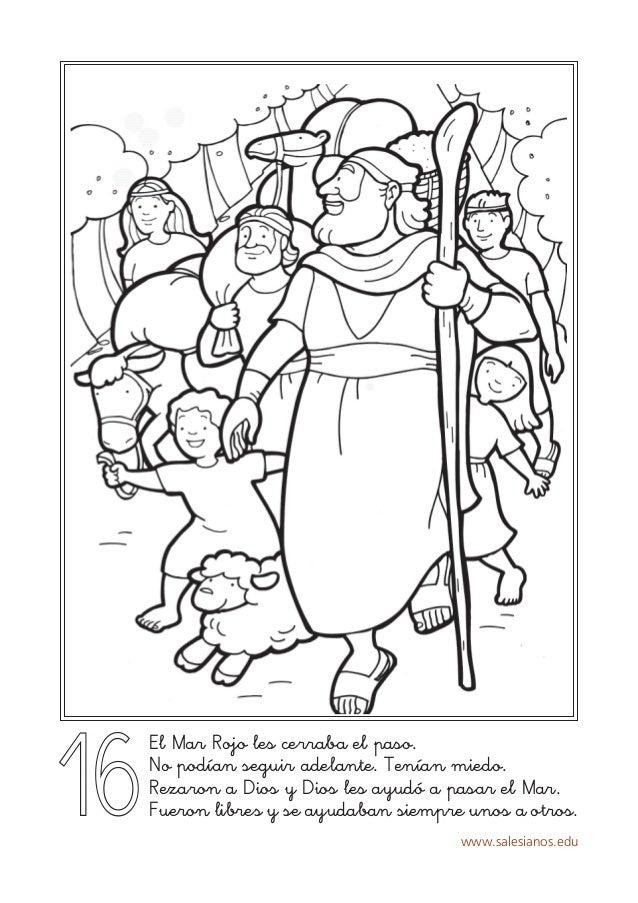 Lujo Colorear Moses Y El Mar Rojo Regalo - Dibujos Para Colorear En ...