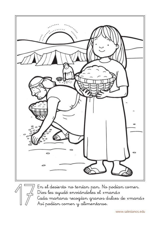www.salesianos.edu 17 En el desierto no tenían pan. No podían comer. Dios les ayudó enviándoles el «maná» Cada mañana reco...