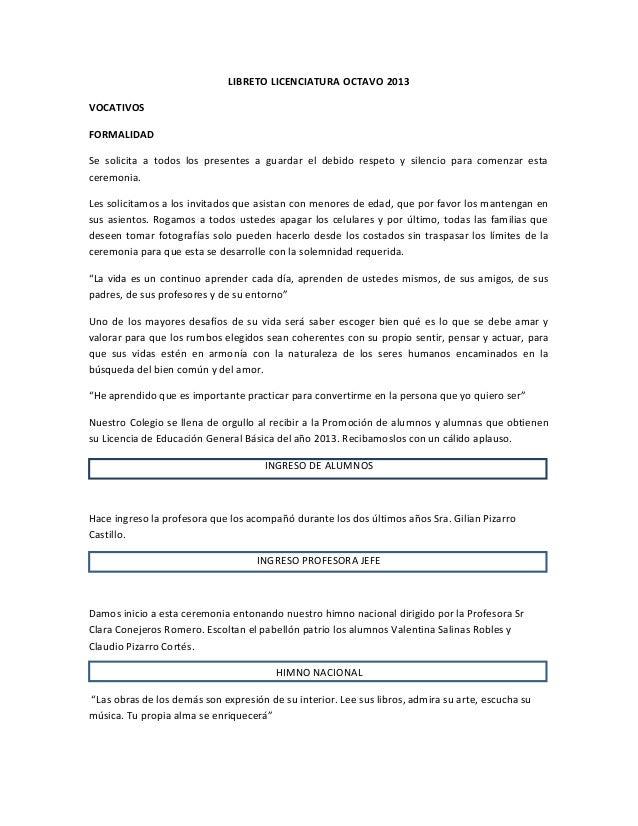 Libreto licenciatura octavo 2013