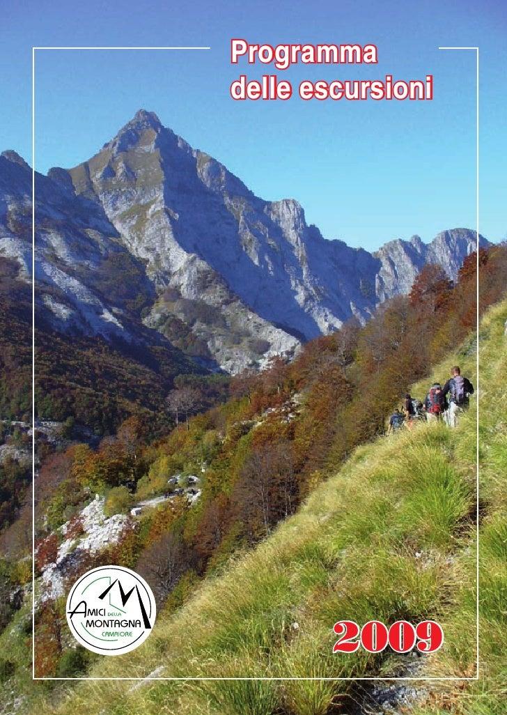 Programma delle escursioni             2009