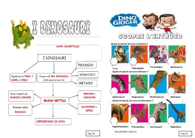 Super Schede didattiche sui dinosauri. Libro da costruire con giochi, notiz… ZA23