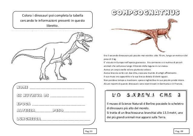 Schede Didattiche Sui Dinosauri Libro Da Costruire Con Giochi Notiz