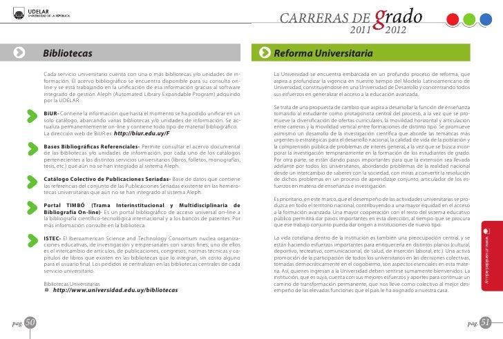 librillo carreras de grado 2011 2012