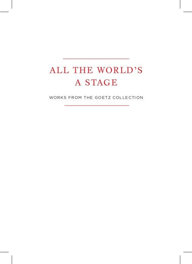 Folleto informativo de la exposición \'All the World\'s a Stage. Works …
