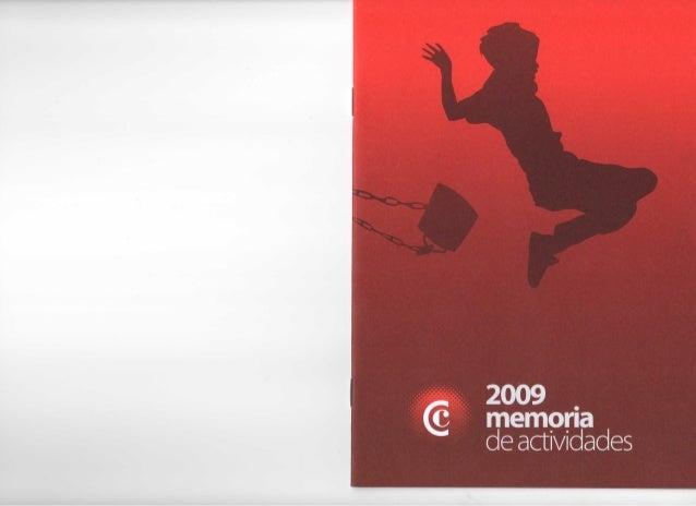Memoria de actividades 2009