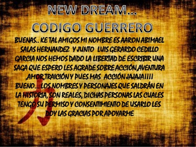 BUENAS.. KE TAL AMIGOS MI NOMBRE ES AARON ABIMAEL SALAS HERNANDEZ Y JUNTO LUIS GERARDO CEDILLO GARCIA NOS HEMOS DADO LA LI...