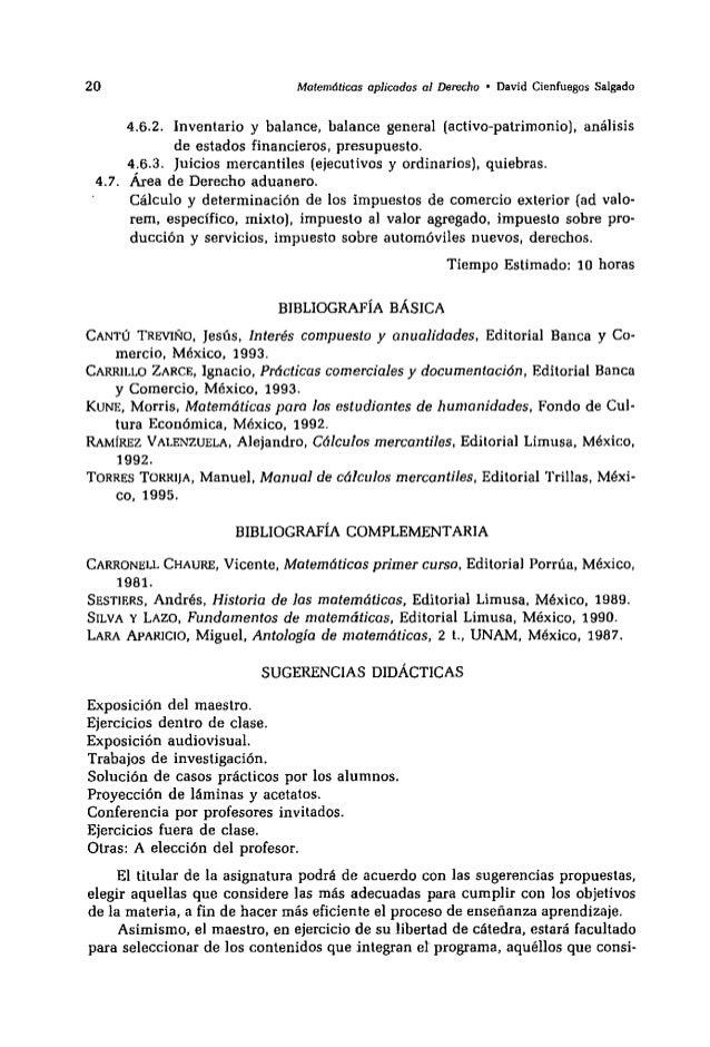 Libro matematicas aplicadas al derecho de david cienfuegos - Calculo de impuestos al comercio exterior ...