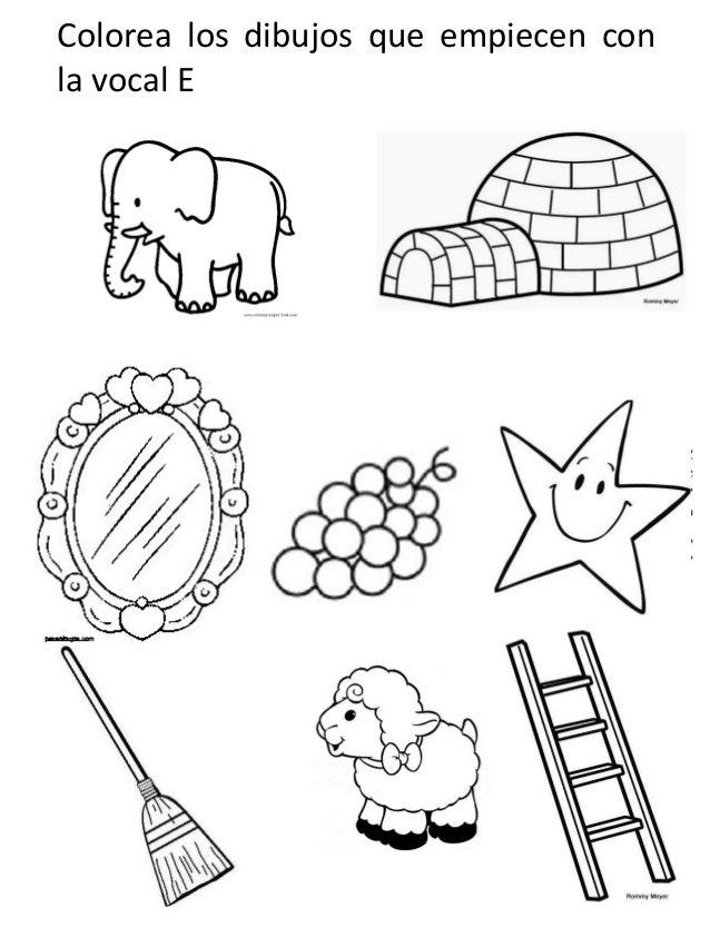 Dibujos Para Colorear Vocales Imagenes Para Colorear Para
