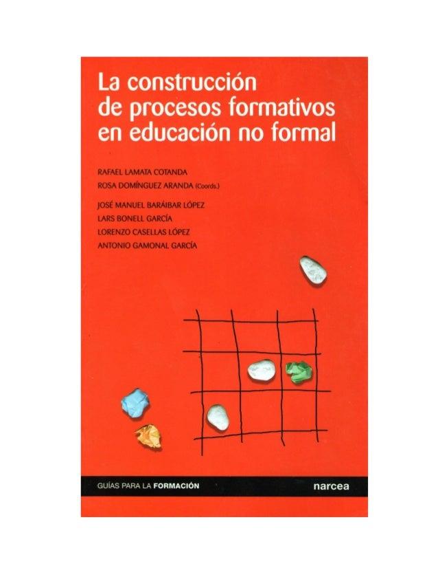 Libro la construcción de procesos formativos en educación no formal