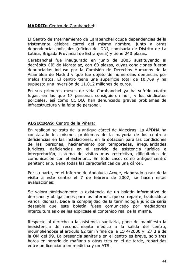 44 MADRID: Centro de Carabanchel: El Centro de Internamiento de Carabanchel ocupa dependencias de la tristemente célebre c...