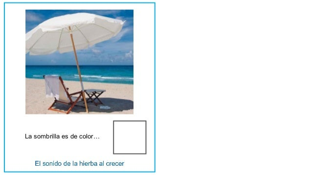 La sombrilla es de color…