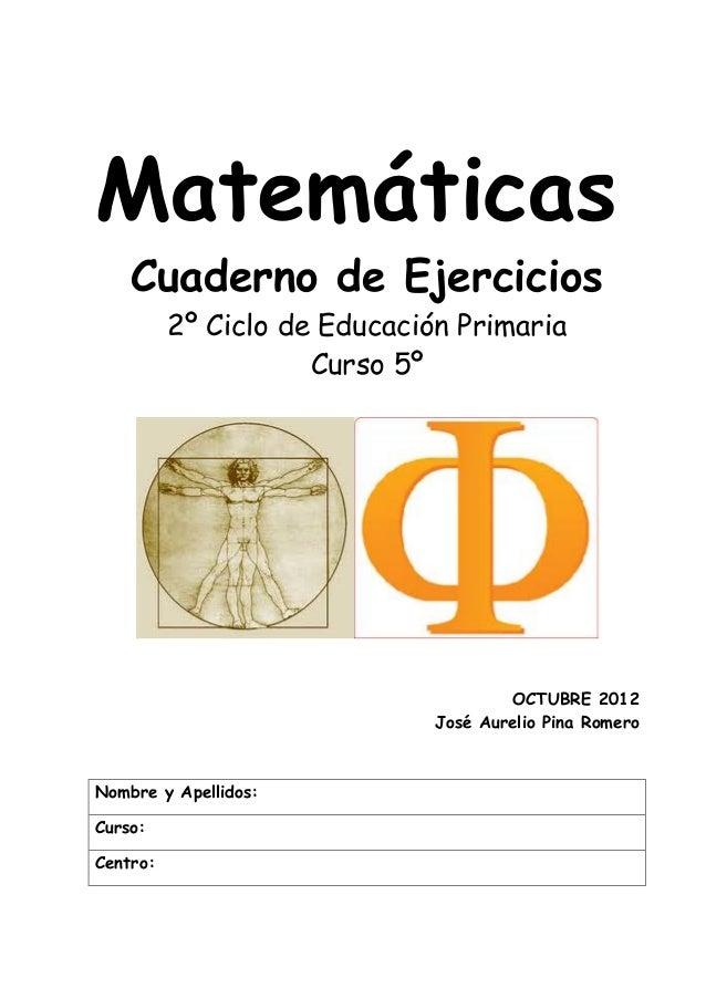 Libro completo MATEMÁTICA cuaderno ejercicios.