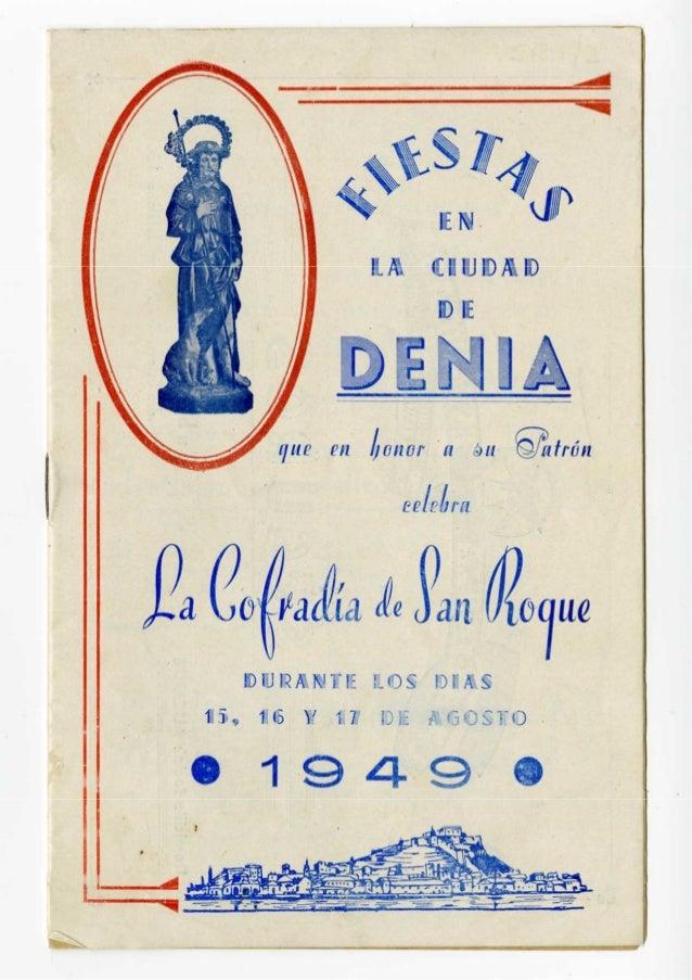 LIBRO DE FIESTAS SANT ROC1949