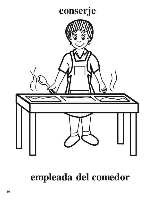 Libro para colorear for Comedor escolar dibujo