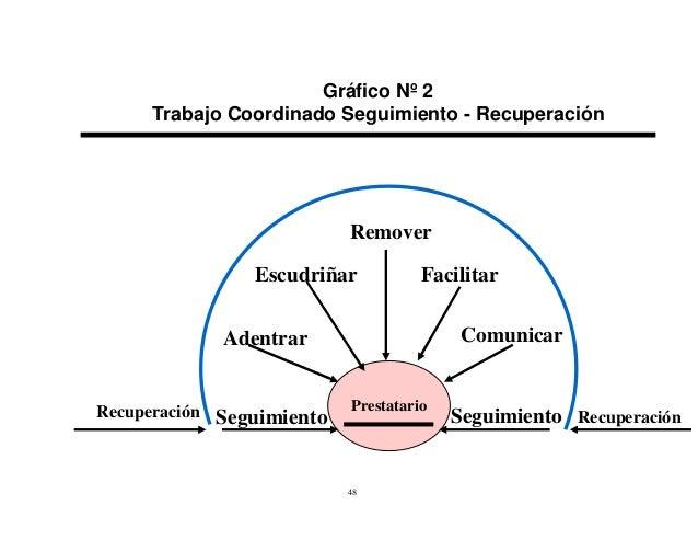 Gráfico Nº 2 Trabajo Coordinado Seguimiento - Recuperación  Remover Escudriñar  Facilitar Comunicar  Adentrar  Recuperació...