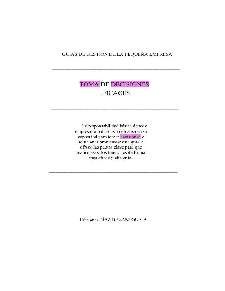 Libro de Toma de Decisiones Slide 3