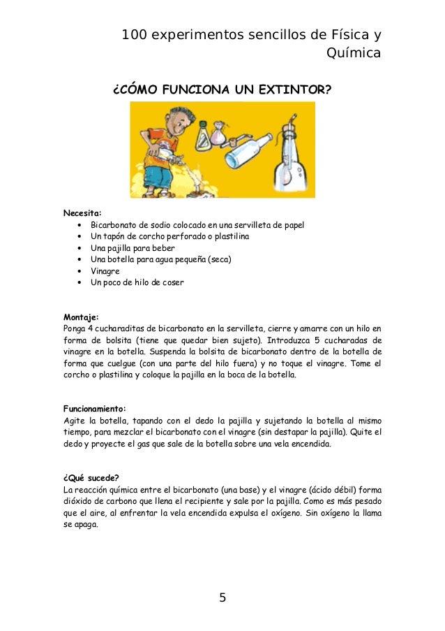 Libro 100 experimentos sencillos fisica y quimica