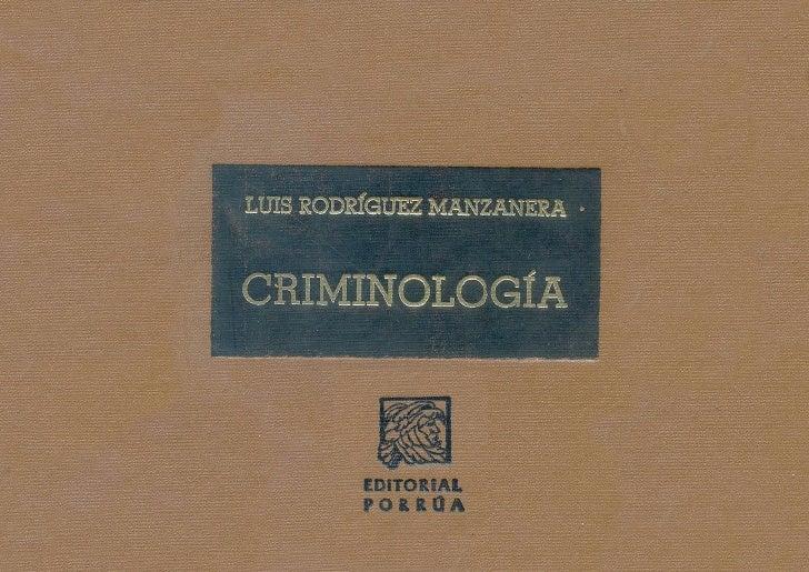 libro de criminologia clinica de rodriguez manzanera en pdf