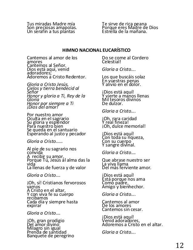 Letra Cantemos Al Amor De Los Amores | ignacio busca