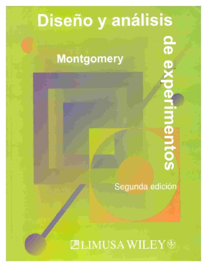 Libro analisis y diseño de experimentos de mongomery