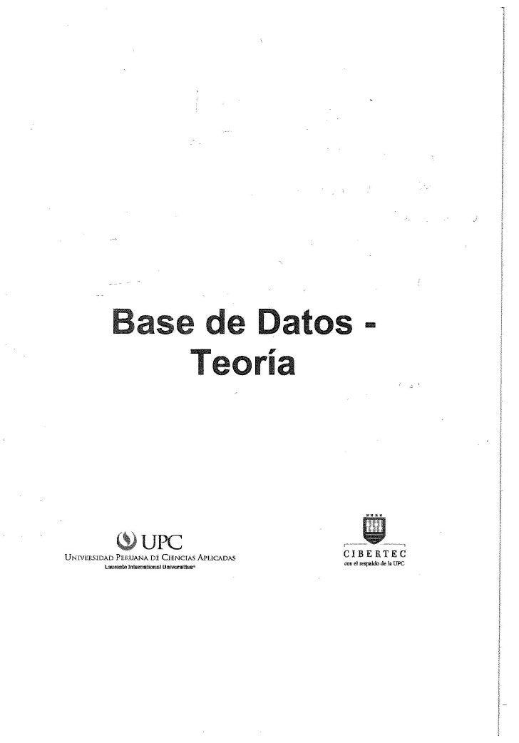 Libro base de datos - teoria
