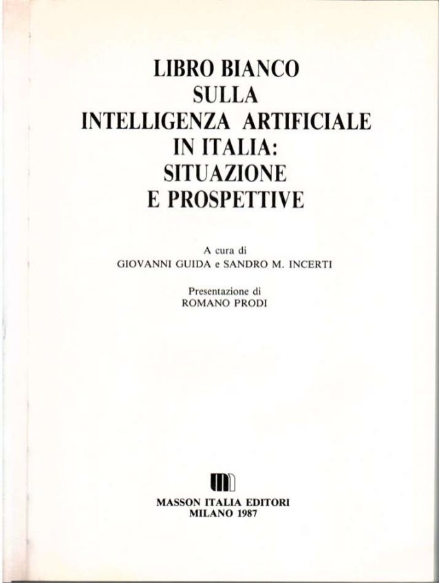 Libro bianco sull'Intelligenza Artificiale in Italia