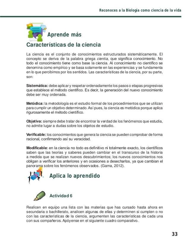 Libro biolog a i for Resumen del libro quimica en la cocina