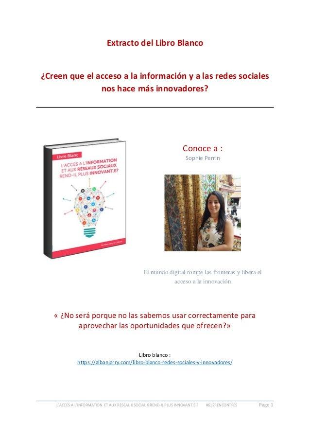 Libro blanco redes sociales innovacion - sophie perrin 36e1f9875b102
