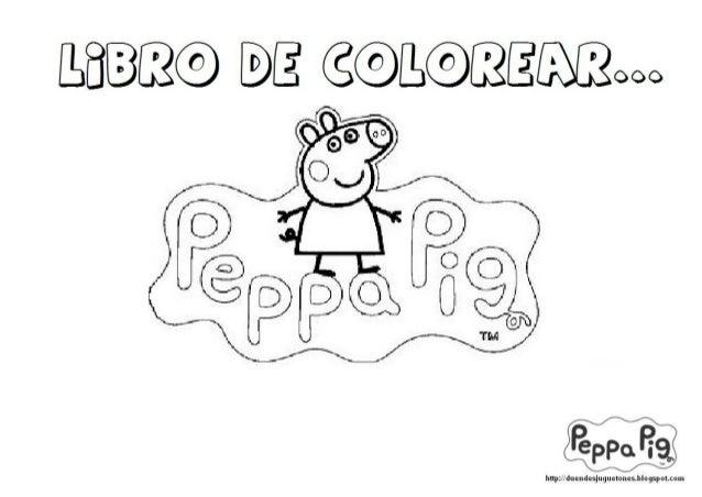 Libro colorear peppa pig