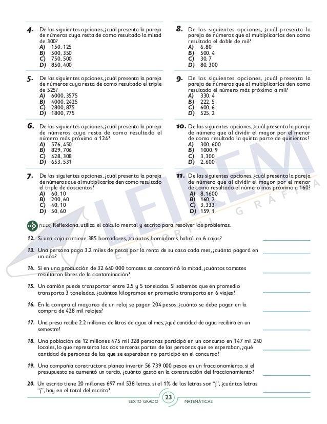 Excelente Libre De Las Hojas De Trabajo De Matemáticas De Grado 6 ...