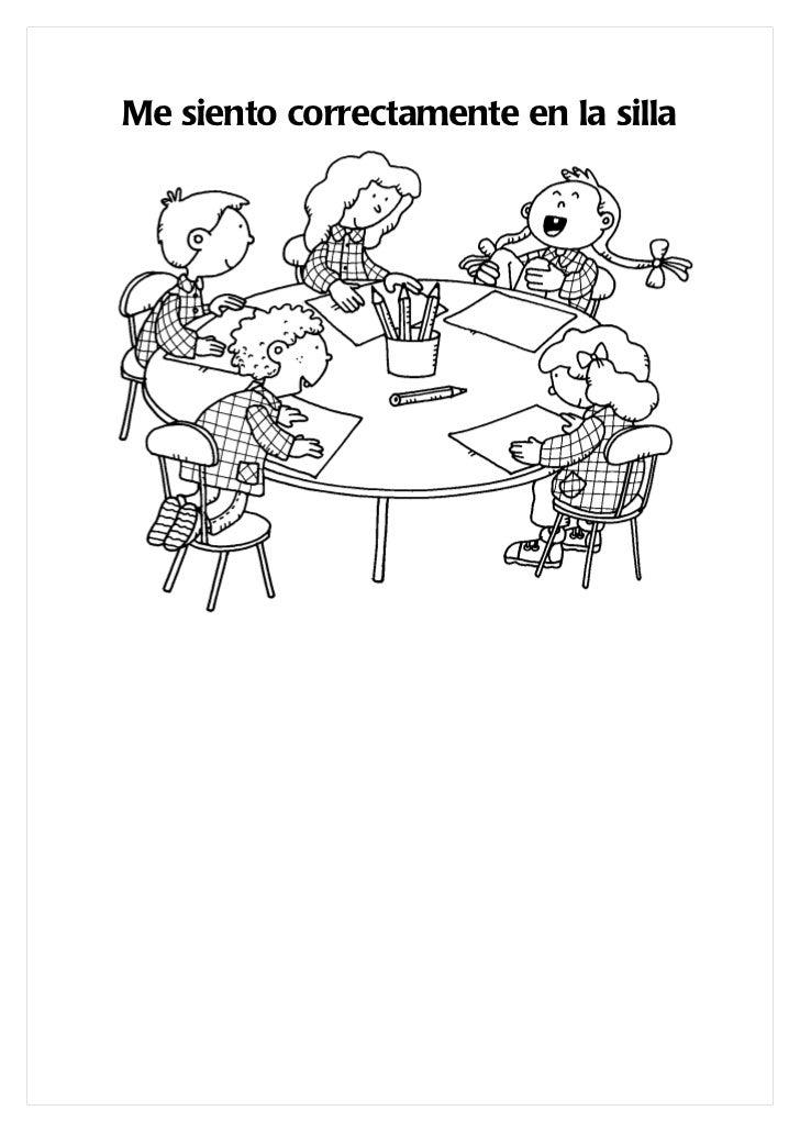 Libro con dibujos normas del colegio for Dibujo de comedor escolar