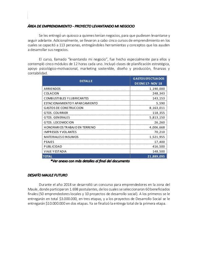 CUENTA PUBLICA ENERO 2017 – NOVIEMBRE 2018 ÁREA DE EMPRENDIMIENTO - PROYECTO LEVANTANDO MI NEGOCIO Se les entregó un quios...