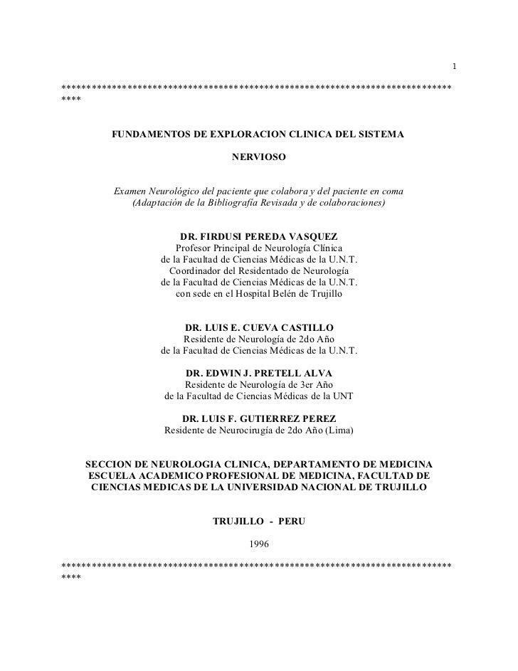 Manual de Examen Físico del Sistema Nervioso