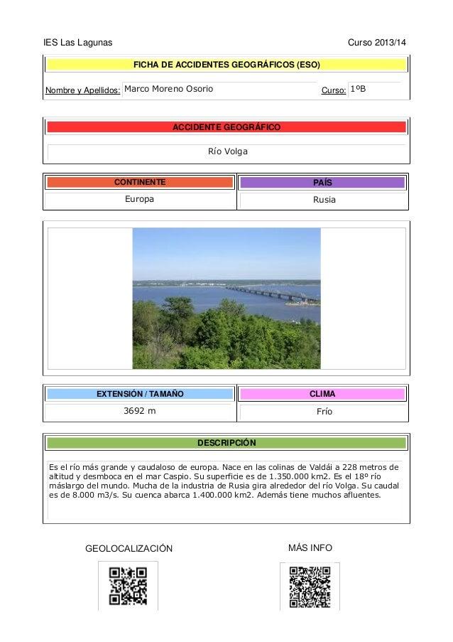 IES Las Lagunas Curso 2013/14 FICHA DE ACCIDENTES GEOGRÁFICOS (ESO) Nombre y Apellidos: Curso: ACCIDENTE GEOGRÁFICO CONTIN...