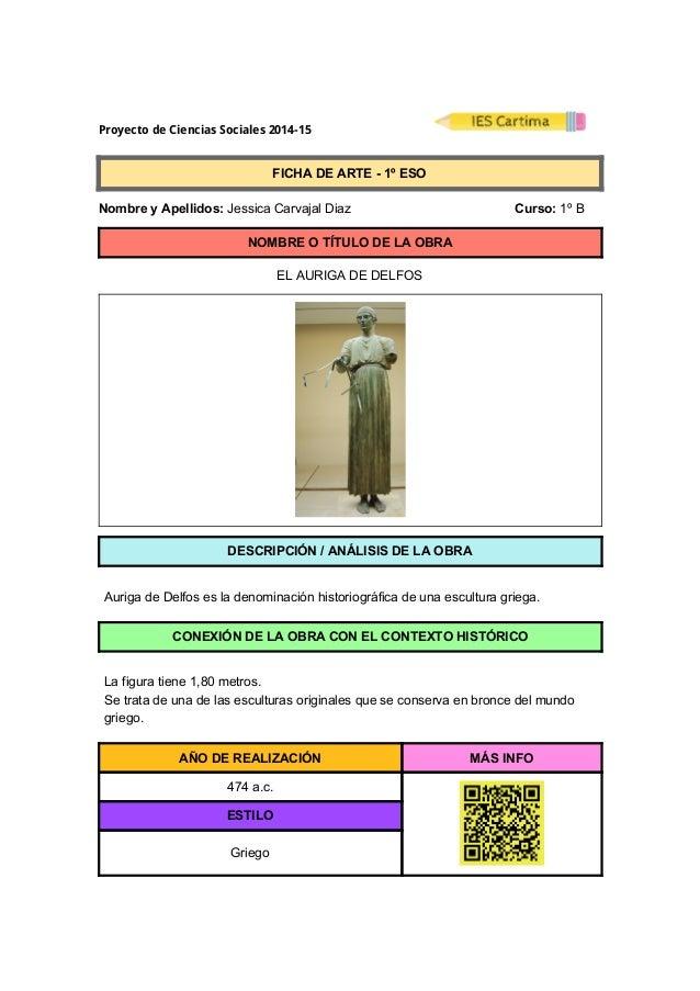 ProyectodeCienciasSociales2014-15  FICHADEARTE1ºESO  NombreyApellidos:JessicaCarvajalDiaz ...