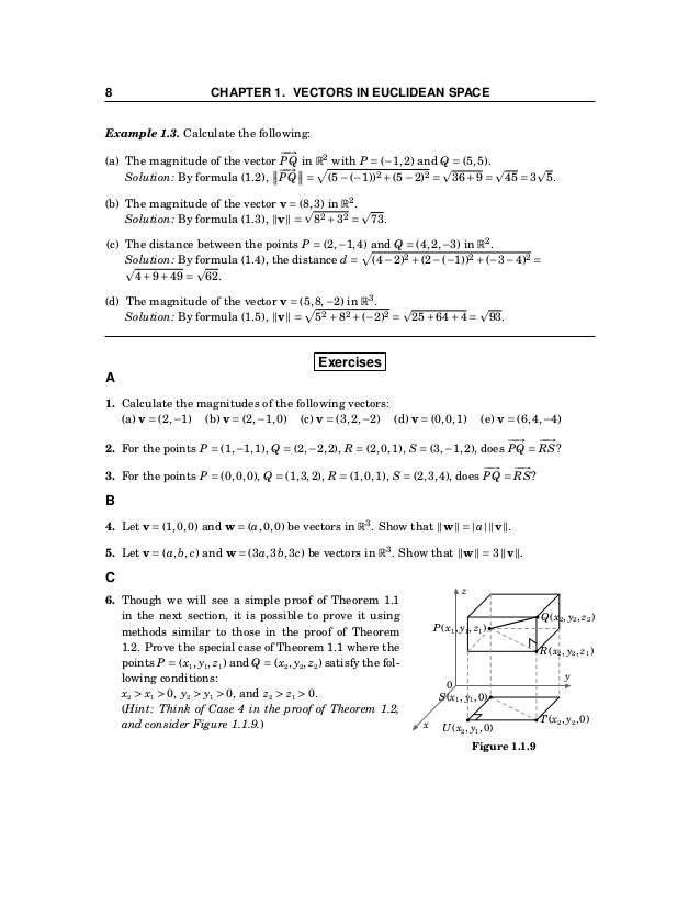 1.2 Vector Algebra 9 1.2 Vector Algebra Now that we know what vectors are, we can start to perform some of the usual algeb...
