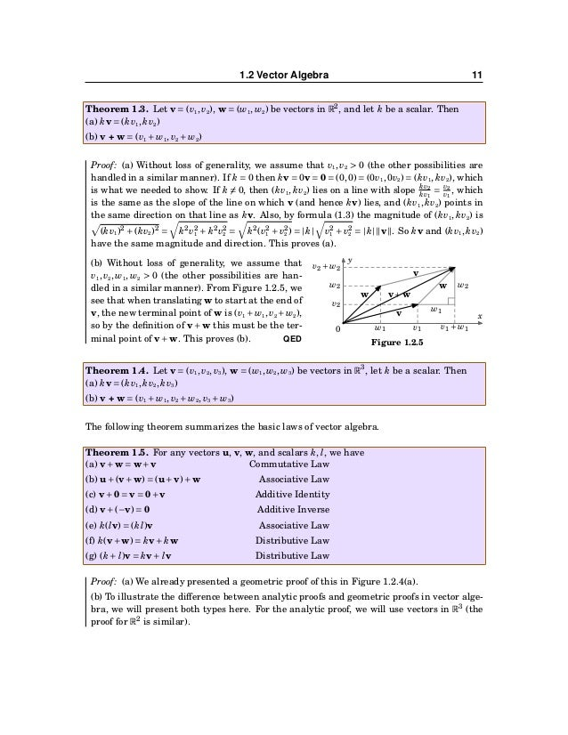 12 CHAPTER 1. VECTORS IN EUCLIDEAN SPACE Let u = (u1,u2,u3), v = (v1,v2,v3), w = (w1,w2,w3) be vectors in R3 . Then u+(v+w...