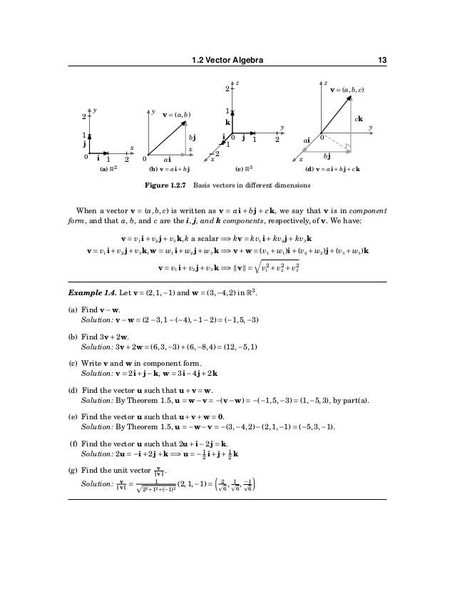 14 CHAPTER 1. VECTORS IN EUCLIDEAN SPACE We can now easily prove Theorem 1.1 from the previous section. The distance d bet...