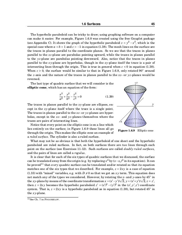 46 CHAPTER 1. VECTORS IN EUCLIDEAN SPACE Exercises A For Exercises 1-4, determine if the given equation describes a sphere...