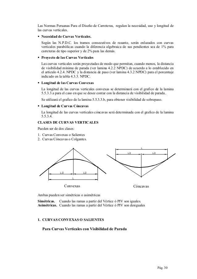 Las Normas Peruanas Para el Diseño de Carreteras, regulan la necesidad, uso y longitud de las curvas verticales.  Necesid...
