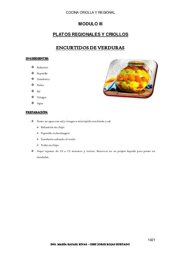 manual de cocina criolla y regional