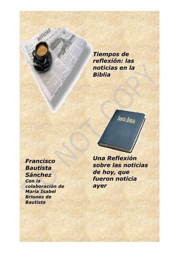 Tiempos de                   reflexión: las                   noticias en la                   Biblia                     ...